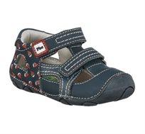 נעלי פעוטות צעד ראשון Papaya דגם סופטי סירות בצבע נייבי