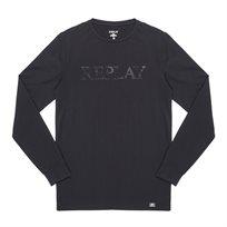 REPLAY חולצה ארוכה// crew neck T shirt black logo