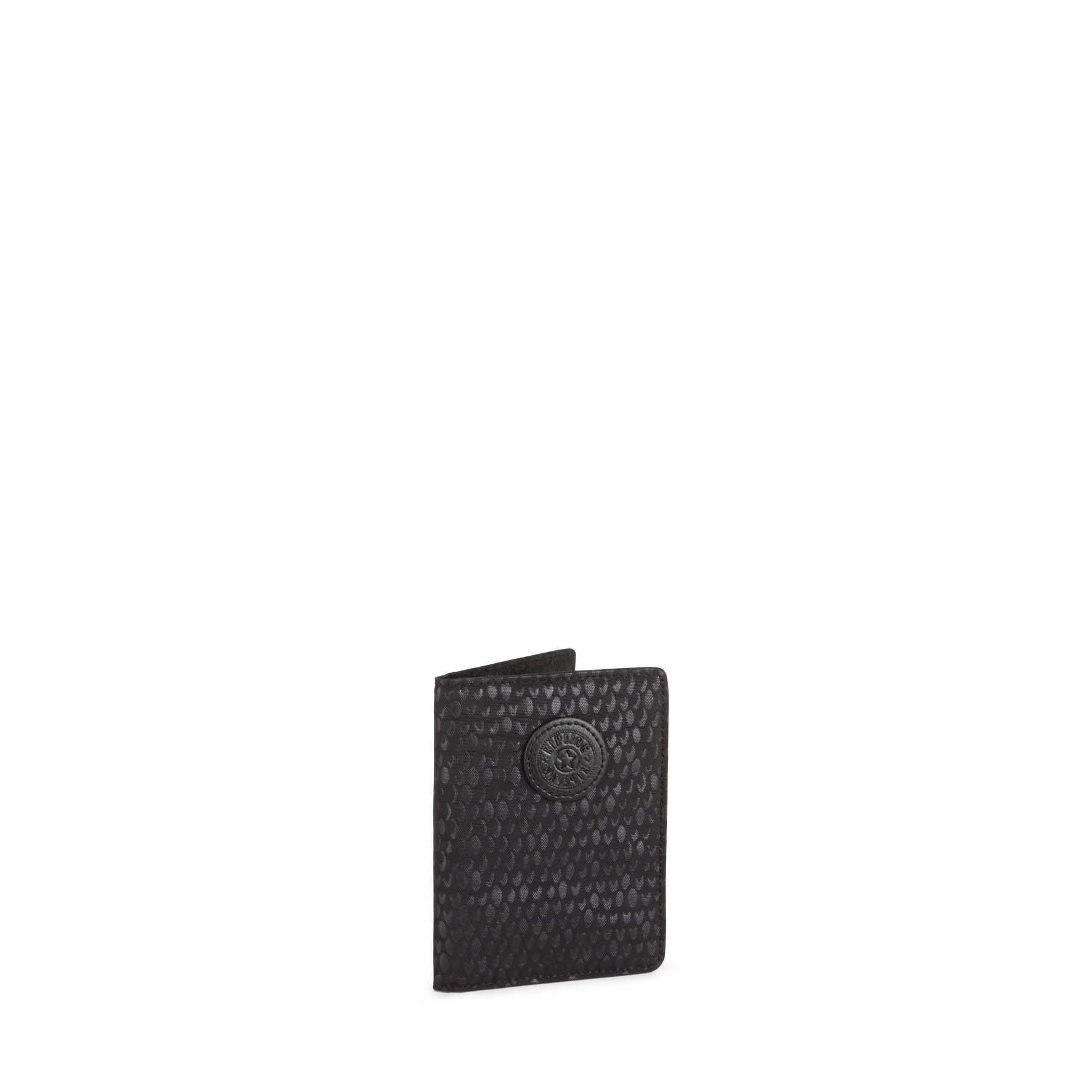 כיסוי דרכון Pass Port - Black Scale Embשחור מנומר