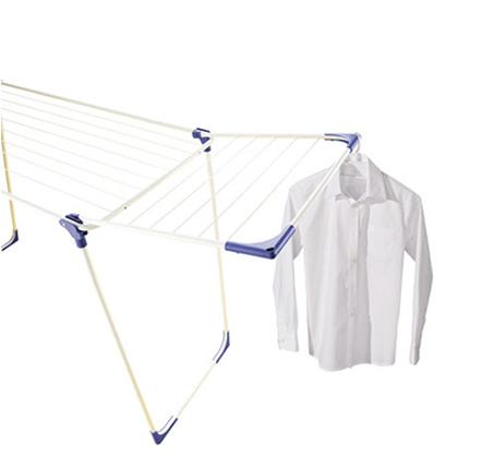 מתקן לייבוש כביסה יציב מצופה מתכת ולא מחלד עם כנפיים מתקפלות LEIFHEIT - תמונה 2