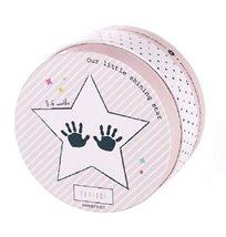 החתמת כפות ידיים לתינוק - ורוד