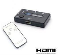 הסוף לבעיות חיבור מכשירים למסך הטלוויזיה! מפצל HDMI + שלט רחוק ל-3 מכשירים