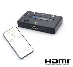 מפצל HDMI + שלט רחוק ל-3 מכשירים