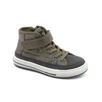 Keds - נעלי סניקרס גבוהות עם סקוטש לילדים בצבע חאקישחור