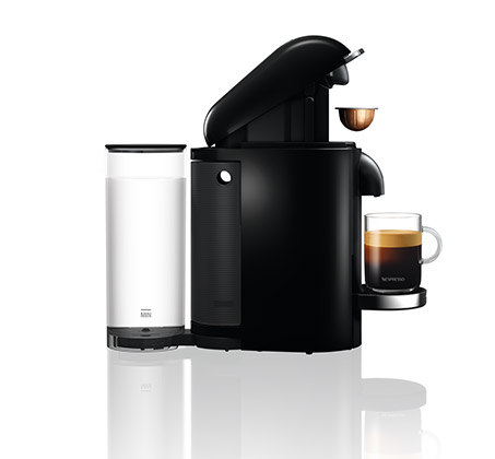 מכונת קפה NESPRESSO VertuoPlus בצבע שחור כולל מקציף חלב ארוצ'ינו דגם A3GCB2 נספרסו - משלוח חינם - תמונה 3