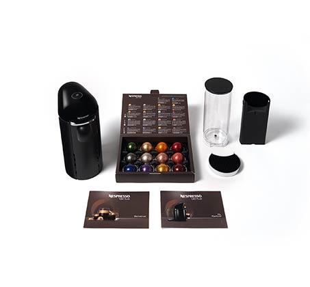 מכונת קפה NESPRESSO VertuoPlus בצבע שחור כולל מקציף חלב ארוצ'ינו דגם A3GCB2 נספרסו - משלוח חינם - תמונה 6