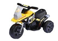 אופנוע רייסינג ממונע 6V צהוב
