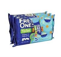 מארז חיסכון הכולל 18 אריזות נייר טואלט לח KIDS לניקיון מושלם FRESH ONES