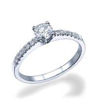 """טבעת אירוסין זהב לבן 0.51 קראט """"אנדריאה"""" F/Si1"""