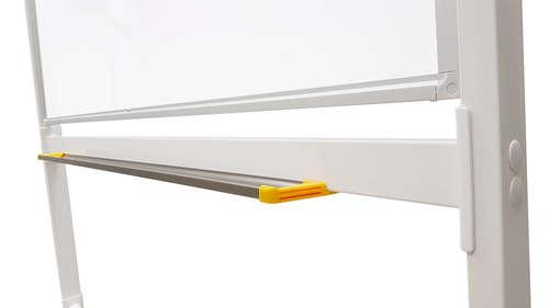 לוח מחיק מגנטי נייד על גלגלים דו צדדי מסתובב 120x120 ס