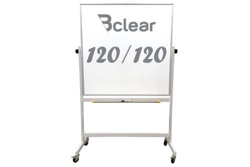 """לוח מחיק מגנטי נייד על גלגלים דו צדדי מסתובב 120X120 ס""""מ Bclear"""