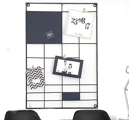 לוח מודעות והשראות מעוצב עשוי מתכת צבועה במבחר צבעים לבחירה - תמונה 2