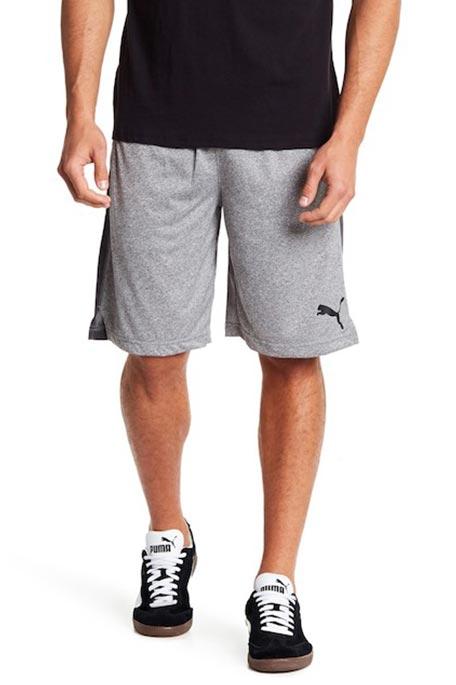 מכנסי אימון PUMA לגבר 51660702 - גווני אפור