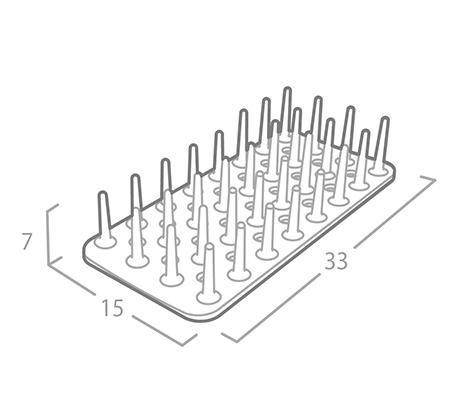 משטח ייבוש כלים בריאותי אנטי בקטריאלי בלבן או כתום לבחירה OLIVIER תוצרת קוריאה - תמונה 3