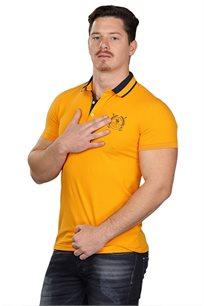 חולצת פולו לגברים SLIM FIT בצבע צהוב