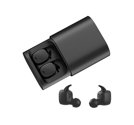 אוזניות QCY B.T. T1 Pro Stereo True Wireless בצבע שחור