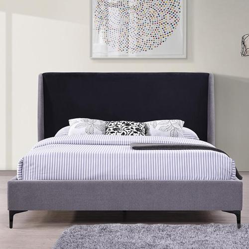 מיטה זוגית מרופדת עם רגלי מתכת דגם PARKER