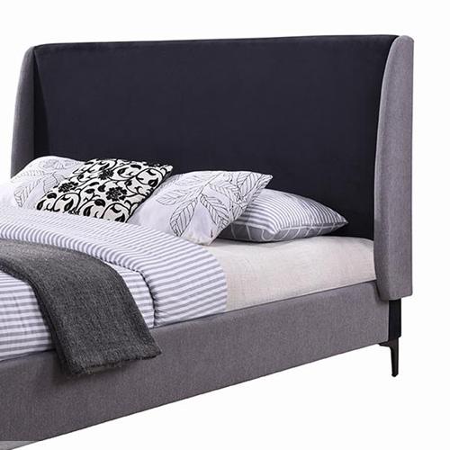 מיטה זוגית מרופדת בעיצוב מודרני מסגרת מעץ דגם פרקר HOME DECOR - תמונה 3