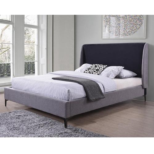 מיטה זוגית מרופדת בעיצוב מודרני מסגרת מעץ דגם פרקר HOME DECOR - תמונה 2