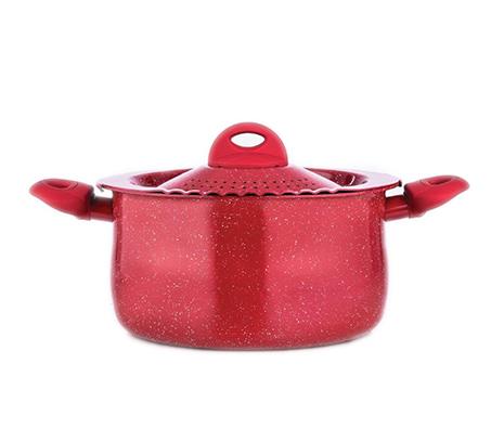 """סיר פסטה קוטר 26 ס""""מ בצבע אדום דגם קינגסטון"""