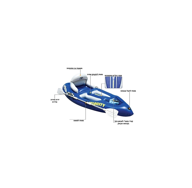 קיאק מתנפח לגלישת גלים עם ישיבה עליונה AQUA MARINA - תמונה 2