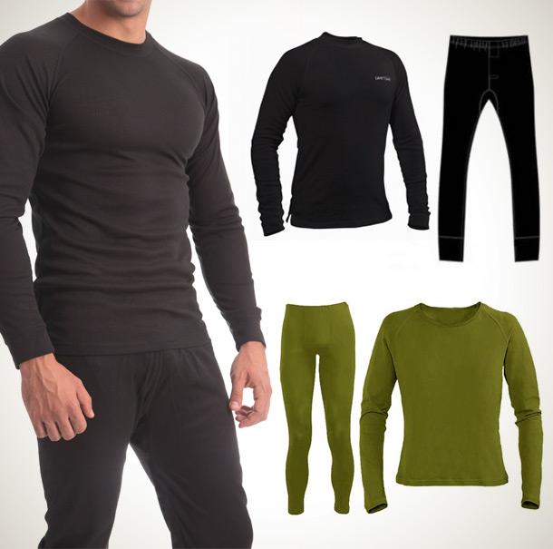 סט ביגוד תרמי מכנס + חולצה המעניק בידוד מפני הקור ותחושת חום לאורך זמן לנשים וגברים - תמונה 3