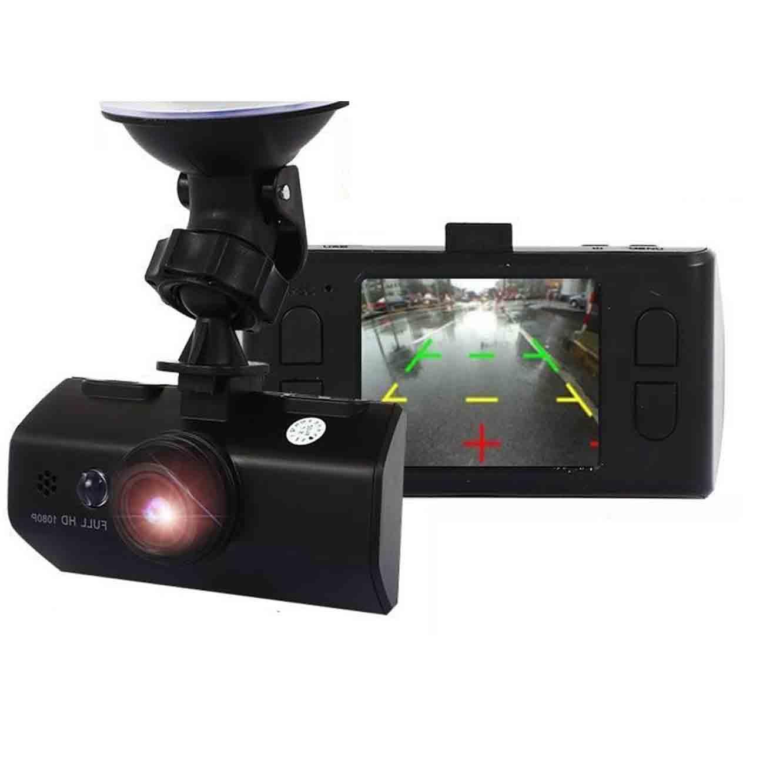 מצלמת רכב משולבת עם צג ו-2 מצלמות קדמית ואחורית