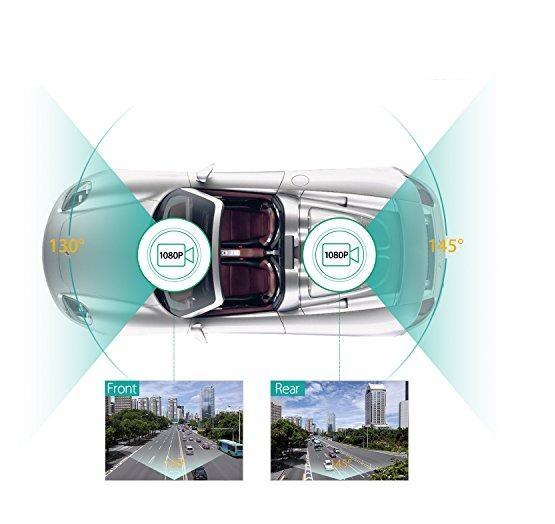 מצלמת רכב משולבת עם צג ו-2 מצלמות קדמית ואחורית לצילום הדרך וצילום התנועה מאחור וגם בזמן ורוורס - תמונה 4