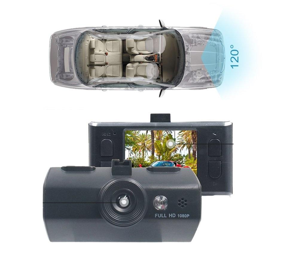 מצלמת רכב משולבת עם צג ו-2 מצלמות קדמית ואחורית לצילום הדרך וצילום התנועה מאחור וגם בזמן ורוורס - תמונה 2
