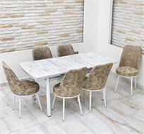 פינת אוכל נפתחת כוללת 4 כסאות כאמל