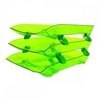 סט 3 מגשי Crazy Trays- ירוק זוהר