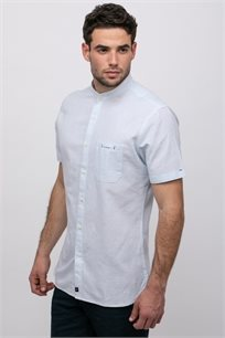 חולצת פשתן צווארון סיני