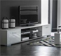 מזנון 1.8 מ' בגימור לבן מבריק בחזיתות ובעיצוב נקי ומוקפד תוצרת צרפת דגם אסי HOME DECOR