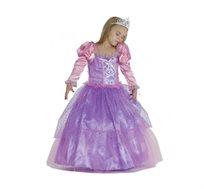 תחפושת לפורים נסיכה בשמלה סגולה לילדות