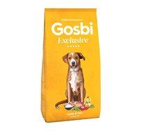 """מזון לכלבים אקסלוסיב גורים 12 ק""""ג בטעם כבש סלומון GOSBI"""