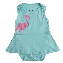 שמלה No Biggie לתינוקות (מידות 0-24 חודשים) תכלת