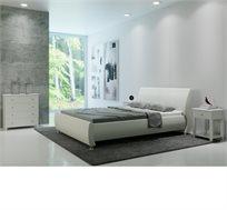 חדר שינה SERENA בעיצוב איטלקי ייחודי ומרהיב הכולל מיטה זוגית, 2 שידות וקומודה GAROX