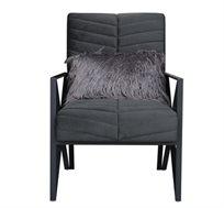 כורסת ישיבה בעיצוב מודרני הכוללת כרית נוי דגם טראפיק