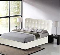 מיטה זוגית בריפוד עור עדין 140X190 דגם LUCIANO - משלוח חינם