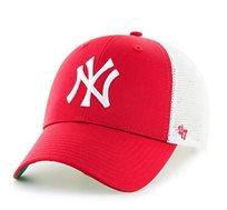 כובע NY YANKEES - אדום רשת לבנה