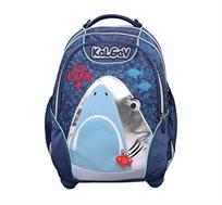 תיק אורטופדי לילדים X BAG דגם כריש + בקבוק שתייה מתנה
