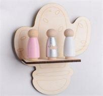 מדף דגם קקטוס לעיצוב חדר הילדים
