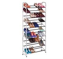 מתקן נעליים נייד מניקל איכותי לאחסון עד 50 זוגות נעליים