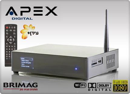 תוספת סטרימר אלחוטי FULL HD WiFi של APEX משולב ממיר דיגיטלי, תומך בעברית ZG-74