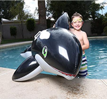 לוויתן שחור מתנפח לרכיבה 203X102 ס