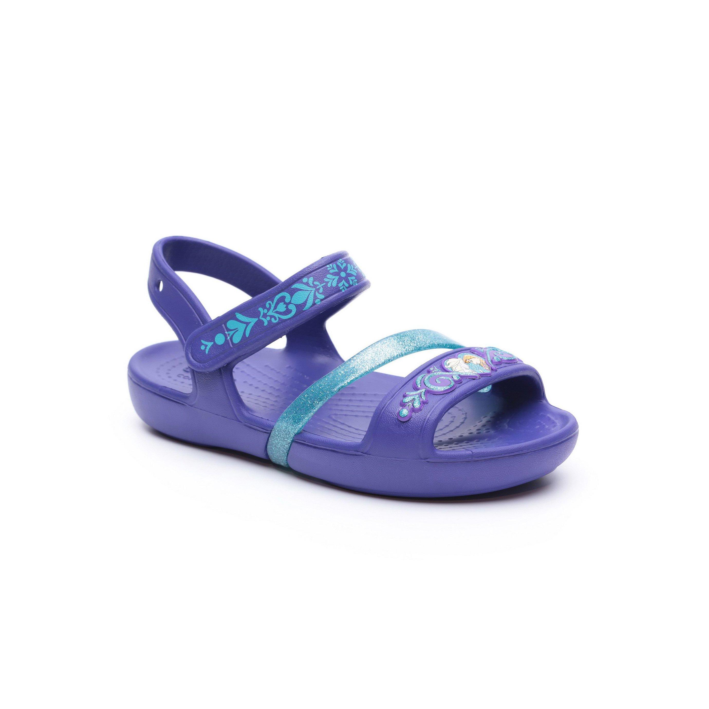 Crocs Lina Frozen Sandal - סנדל לילדות אנה ואלזה בצבע סגול