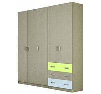 ארון תליה 5 דלתות עם מדפים ומגירות דגם SHIR במגוון צבעים לבחירה