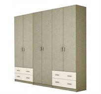 ארון תליה 6 דלתות עם מדפים ומגירות דגם NIR במגוון צבעים לבחירה