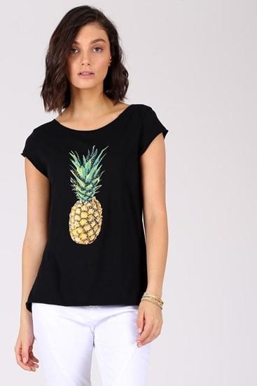 חולצה אננס - שחור