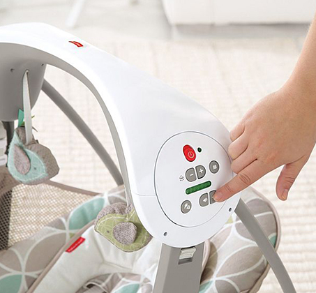 נדנדה מנגנת ניידת בעלת 2 מצבים לתינוקות פישר פרייס - תמונה 3